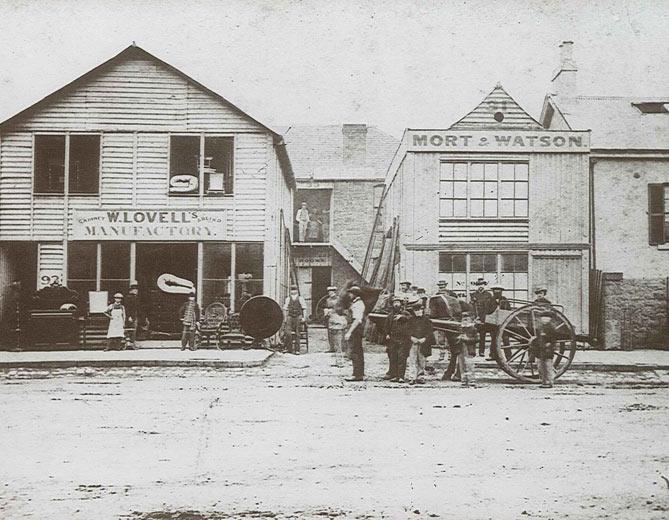 Lovells Bourke Street (cnr. William Street), Melbourne, Australia c.1875